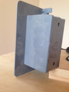 Airfoil single gang box, back view