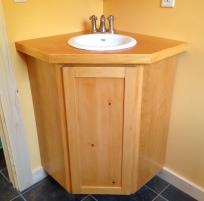 Bathroom vanity matches an existing shelf.