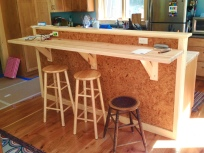 Breakfast bar and standing desk.