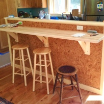Breakfast bar and standing desk.